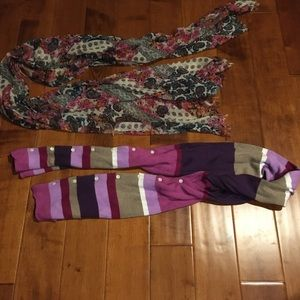 Colorful 6ft length scarves